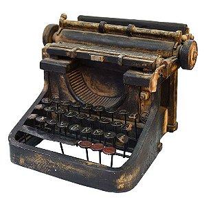 Máquina de Escrever Preta em Resina LR-25