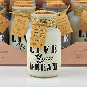 Vela Perfumada Live Your Dream em Vidro (Unitário) YI-37