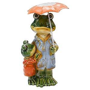 Enfeite Sapo Umbrella em Cerâmica YJ-17