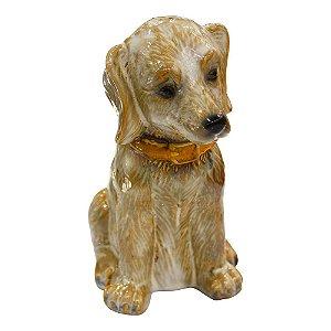 Enfeite Cachorro Bege em Cerâmica YJ-19 A