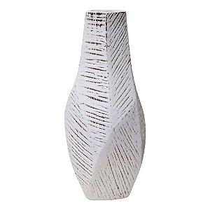 Vaso Floriani Branco em Cerâmica YK-24 A