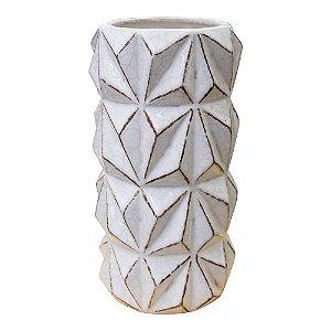 Vaso Moriah Branco em Cerâmica YK-25 A