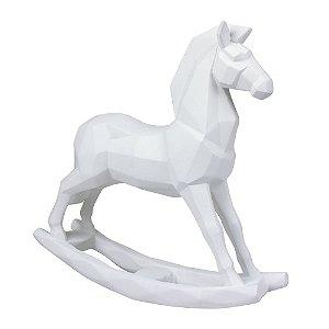 Enfeite Cavalo Branco em Resina YM-25