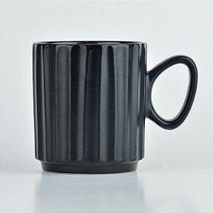 Caneca Black Roxo em Cerâmica YN-33 C