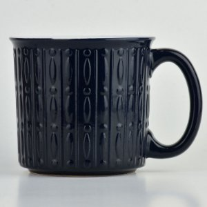 Caneca Texturizada Azul Escura em Cerâmica YN-42 A
