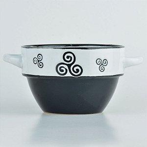 Tigela Arabesco Preto em Cerâmica YN-44 C