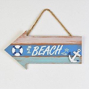 Placa Decorativa Seta Beach Âncora YP-23