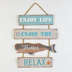 "Placa Baleia ""Relax"" YP-37"