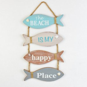 "Placa Peixes ""Happy Place"" YP-39"