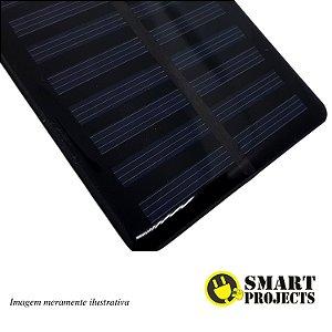 Mini Placa Energia Solar Fotovoltaica 7,5v 100mA 135x64,7mm