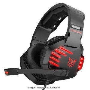 Fone de Ouvido Headset Gamer K17 Vermelho Onikuma