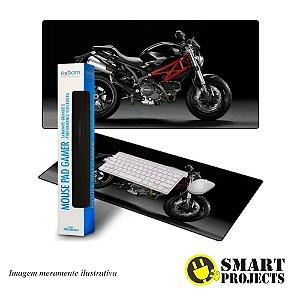 Mouse Pad Gamer Grande (Teclado e Mouse) Motocicleta