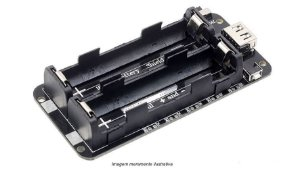 Módulo Shield de energia móvel V8 com proteção de bateria de lítio dupla 18650
