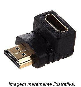 Adaptador HDMI Macho X Fêmea 90°