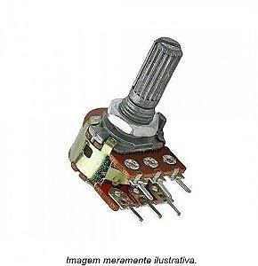 Potenciômetro Linear Mini Duplo de 2K L20 (2000Ω)