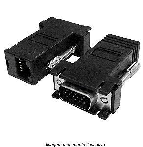 Conversor Adaptador VGA para RJ45
