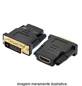Conversor Adaptador DVI-I (24+1) Macho X HDMI Fêmea