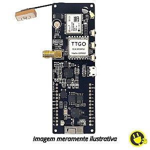 Módulo TTGO WiFi ESP32 com Suporte de Bateria, GPS e LORA 915MHZ