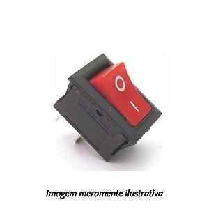 Mini Chave Gangorra KCD11-101 Liga/Desliga 3A 250V Vermelha