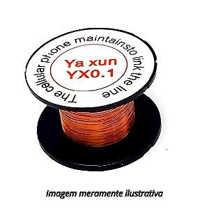 Fio de Cobre Esmaltado YX0.1mm Yaxun