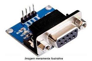 Conversor RS232 TTL serial DB9 femea
