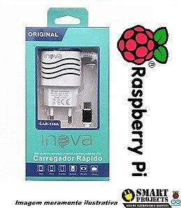 Fonte para Raspberry Pi 3 5V 3,1A Inova
