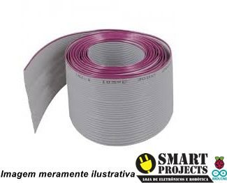Cabo flat 40x28 AWG cinza metro