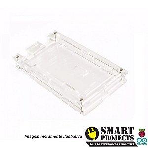 Case acrílico transparente parafusável para Arduino Mega