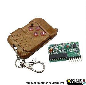 Controle Transmissor RF 4 canais Receptor 315mhz