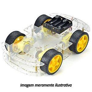 Kit Chassi Carro 4WD 4 Rodas Robótica Arduino