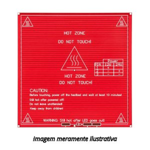 Mesa Aquecida PCB MK2B 12V / 24V Impressora 3D RepRap