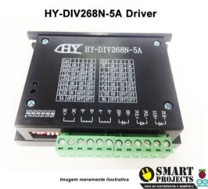 Drive Motor De Passo Hy-div268n-5a Cnc Tb6600 0,2 - 5a