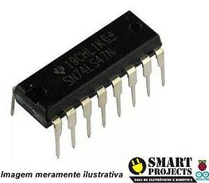 Circuito integrado SN74LS47N Decodificador BCD para 7 segmentos