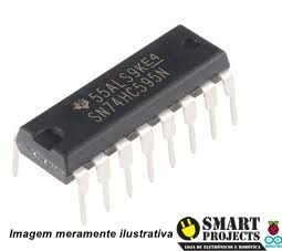 Circuito integrado 74HC595 shift register