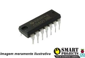 Circuito integrado CD4013 flip flop D
