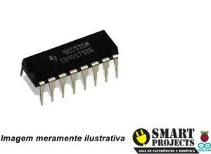 Circuito integrado CD40175 CMOS flip flop D