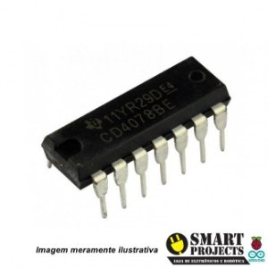 Circuito integrado CD4078 porta lógica NOR