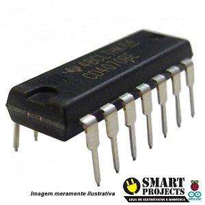 Circuito integrado CD4070 porta lógica XOR