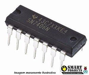 Circuito integrado SN7406N Hex inverter