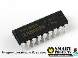 Circuito integrado ULN2803 driver controlador motor de passo