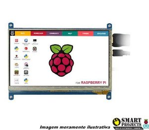 Kit Tela LCD Touch Screen 7 Polegadas 800x480 HDMI para Raspberry