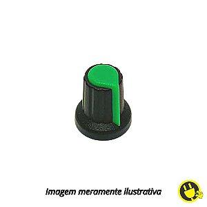 Knob para Potenciômetro Preto com Verde