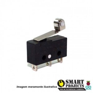 Chave Micro Switch com Rolete KW-11-3Z-5A 3 Terminais