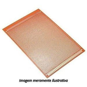 Placa 12x18 Universal Perfurada Ilhada Fibra Fenolite