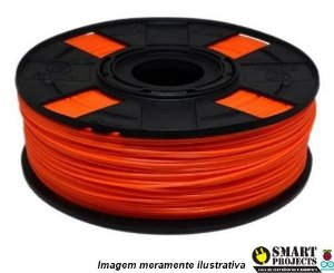 FIlamento PLA 1,75mm 1kg laranja para impressora 3D
