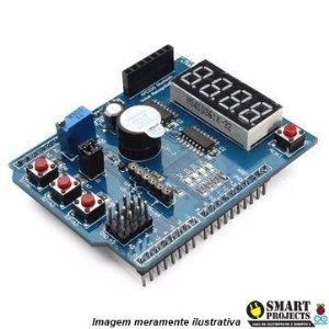 Shield Expansor Aprendizado Arduino Placa Multifunção