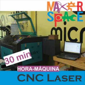 Hora-Máquina CNC Corte a Laser - 30 minutos de uso
