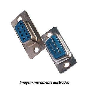 Conector DB9 Fêmea Solda Fio RS232 Serial Sem Capa