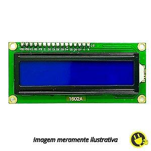 Display LCD 16X2 Azul Com Módulo I2C Soldado
