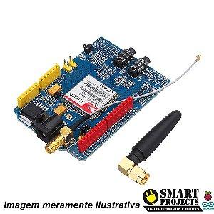 SHIELD GSM / GPRS + ANTENA PARA ARDUINO - SIM900